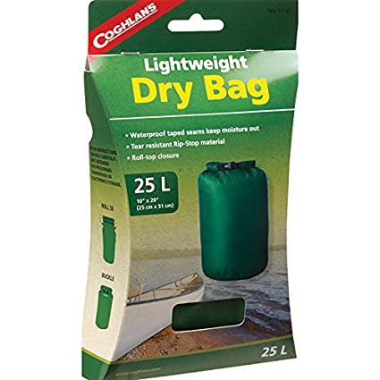 Coghlans 25L Lightweight Dry Bag - Saco de dormir impermeable, color rojo, talla 25