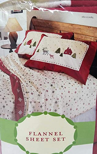 Target Brands, Inc. Winter Holiday Snowflakes Twin Flannel Sheet - Flannel Target Sheets