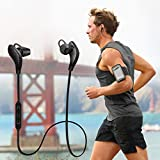 Bluetooth Headphones,EarTime Lightweight Wireless V4.1 Sport Stereo In-Ear Noise Cancelling Earphone for iPhone 7 Samsung Galaxy S7 LG and Android Phones (Black)