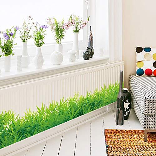 Cheap  Jewh Baseboard Green Grass Waterproof DIY Removable Art Vinyl Wall Stickers -..