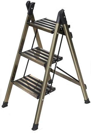 Taburetes Escalera Escalera telescópica Plegable for el hogar Escalera de Dos escalones Escalera de Espiga más Gruesa Escalera pequeña multifunción Regalo de Metal: Amazon.es: Hogar