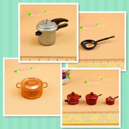 AA Dollhouse 1:12 Lot 6 Mini Pressure Cooker/Sauce Pan/5QT Copper Pot/Skillet Frying Pan