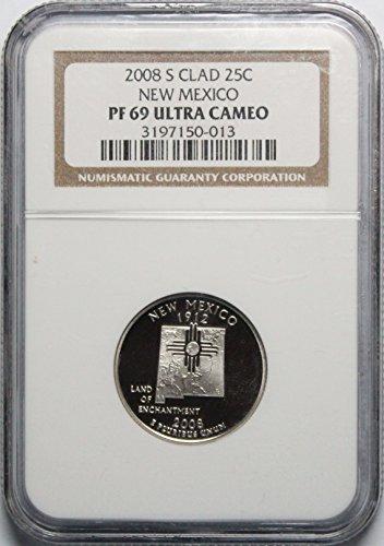 (2008 S New Mexico State Quarter Quarter PF69 UCAM NGC)