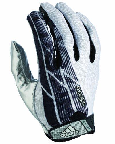 (adidas Adizero 5-Star Football Receiver Gloves, X-Large, White/Black/Silver)