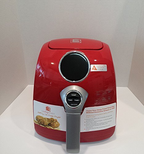 Living Basix LB200 R Digital Oil-Free Fryer, Red