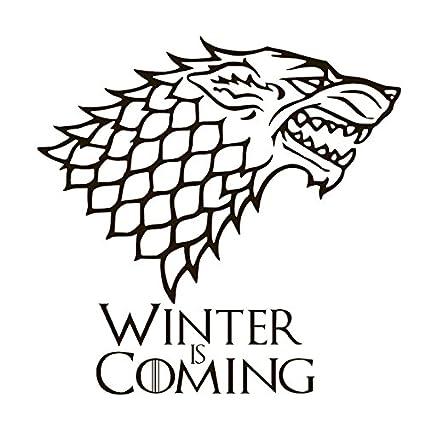 House Stark Wolf Winter Is Coming Game Thrones Vinyl Sticker Decals Car Bumper Window Macbook Laptop 4 X 4 Real Red