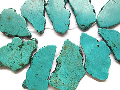 5pcs 60-90mm Natural Turquoise Slab Freeform Cabochons Gemstone Jewelry Pendant,pop Socket (Turquoise Freeform Pendant Bead)