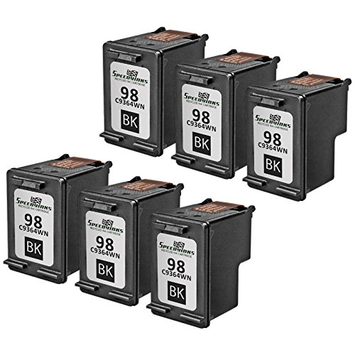 Speedy Inks - 6PK Remanufactured replacement for HP 98 C9364WN Vivera Black Ink Cartridge