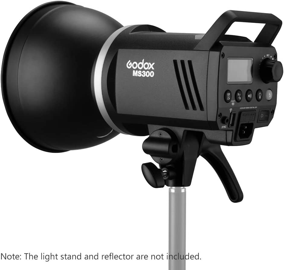 Godox MS300 Studio Flash Strobe Light Monolight 300Ws Max Power Built-in Godox 2.4G Wireless X System GN58 5600K with 150W Modeling Lamp Bowens Mount for Indoor Studio Photography