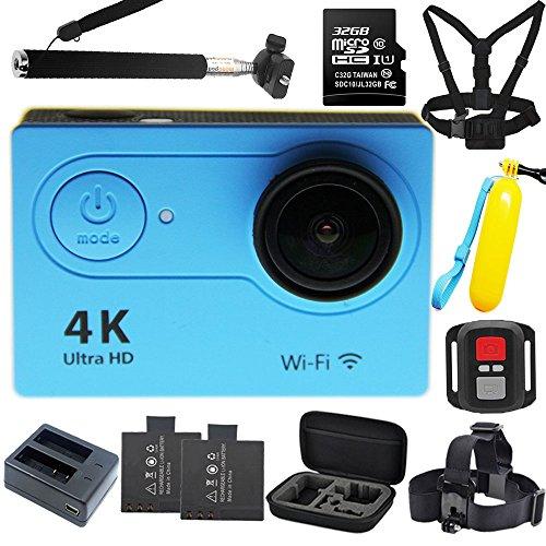 1080p H.264 30fps Full HD Waterproof Wi-Fi Sports Camera (Blue) - 8