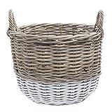 Rattan Basket - 18 3/4''Dia x 17 3/4''H