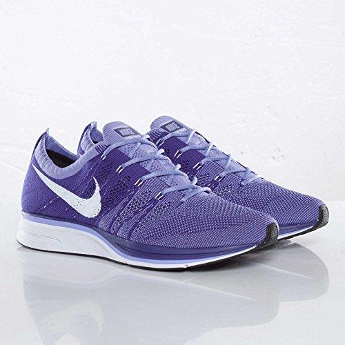 Nike Hombres Flyknit Trainer Plus, Corte Púrpura / Medio Violeta / Blanco Púrpura
