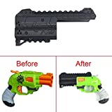 FenglinTech Maliang 3D Printing Appearance Decoration Part for Nerf Zombie Strike Doublestrike Blaster - (Black)