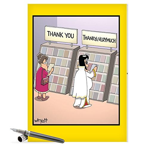 J3757 Jumbo Funny Thank Card