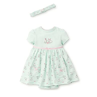 79434b50457b Little Me Baby Girls Knit Bodysuit Dress With Headband, Mint Print, 12  Months: Amazon.in: Clothing & Accessories