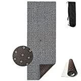 Puzzle Game Maze Solve A Riddle Dense Yoga Mat,Crystal Fabric,bottom Non-woven Point Plastic.