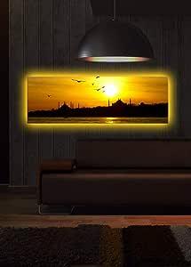 لوحة قماشية ساطعة للمناظر الطبيعية - وسائط متعددة - 2724448451085