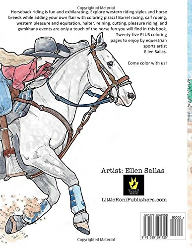 I Love Western Riding Coloring Book Ellen C Maze 9781535291125 Amazon Books
