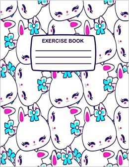 Exercise Book: Cute Hello Kitty Style Exercise Book For Children, 80 Lined  Pages, Notebook For Writing Perfect For Home U0026 School (Fun Exercise Books)  ...