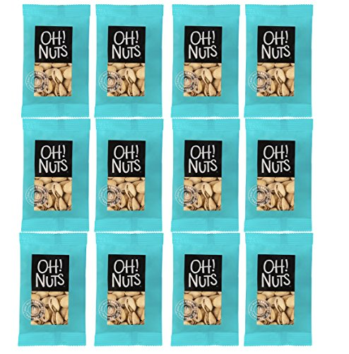 Oh! Nuts Natures Pistachios Large | The Most Wonderful Easy to Open Roasted Salted Pistachio Nut | Healthy Premium Grab and Go Snacks Packs | 1.5 Oz Individual Low Calorie Serving