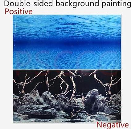 Blue Sea Ocean Aquarium Print  Background Poster Picture Fish Tank Wall Decor