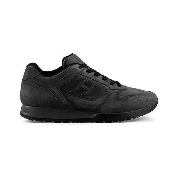 Hogan Sneakers H321 in Pelle in Crosta Grigia a43c9e79c38