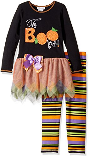 Halloween Dresses For Toddlers (Bonnie Jean Toddler Girls' Appliqued Tutu Playwear Set, Fabboolous, 3T)