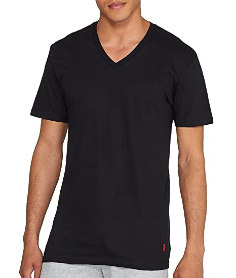 3def4b596 Polo Ralph Lauren Men's Classic V-Neck Undershirts 3-Pack