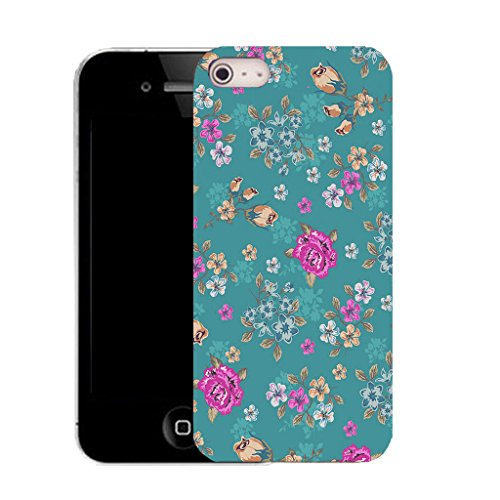 Mobile Case Mate IPhone 4 clip on Silicone Coque couverture case cover Pare-chocs + STYLET - blue dendritic pattern (SILICON)