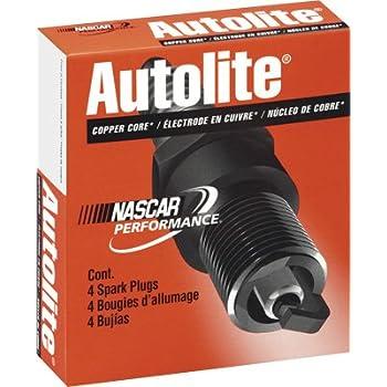 Autolite 4093-4PK Copper Non-Resistor Spark Plug, Pack of 4