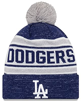 "Los Angeles Dodgers New Era MLB ""Toasty Cover"" Cuffed Knit Hat with Pom"