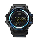 AOKII Outdoor Waterproof IP67 Bluetooth Sport Smart Watch with Android and IOS Smartphones (Blue) (Blue)