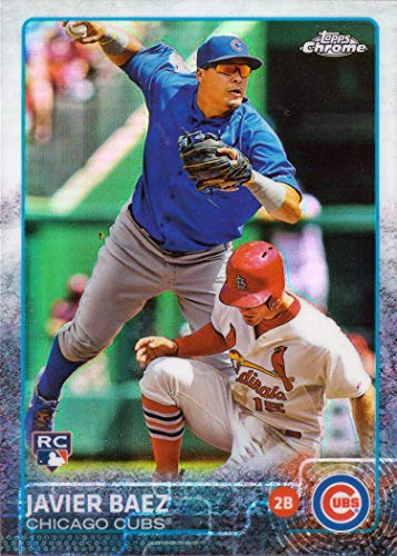 2015 Topps Chrome Refractor #89 Javier Baez Baseball Rookie Card