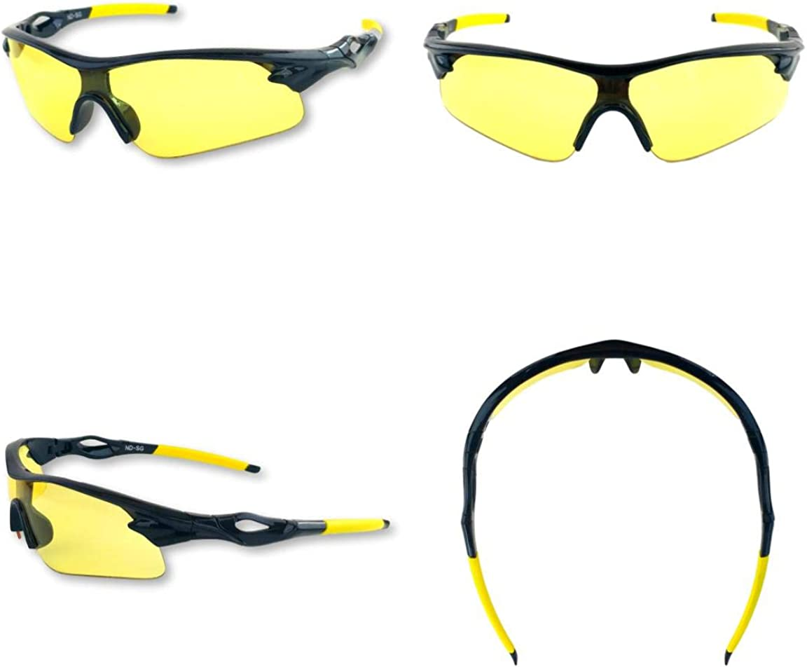 iLumen8 BEST Shooting Glasses UV Blacklight Yellow Vision Safety Eye protection: Clothing