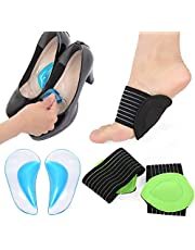 Krilira Arch Support Pad - Massage Pad Insole Foot Cover Correction Insole Sleeves, Relieve Flat Foot Pain, Plantar Fasciitis Foot Relief Cushions, For Man,Woman