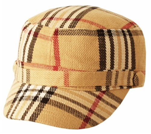 TitFus Super Soft Cashmere Feel Classic Plaid Cadet Army Cap Hat