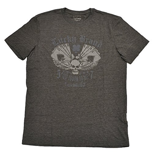 Lucky Brand Mens Grey Graphic T Shirt  M  Grey