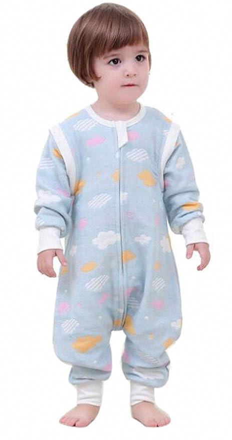 Bebé Saco de dormir con patas, todo el año con mangas largas Niños schlafanzug de