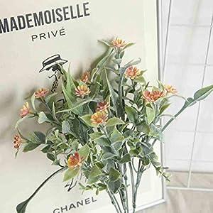 Gotian Artificial Silk Chrysanthemum Daisy Flower Bouquet Table Wedding Party Decor DIY Used to Decorate Hotels Bedroom Workplaces Weddings Garden Desk (Orange) 111