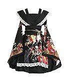 #10: AvaCostume Womens Flower Printing Lace Edge Kimono Stlye Lolita Dress