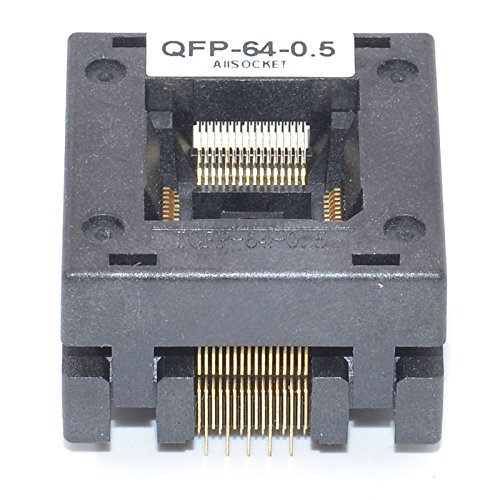 ALLSOCKET QFP64-0.5 Socket IC Burn-in Tesing Socket OTQ-64-0.5-01 0.5mm Pitch 10x10mm IC Dimension Open-top Socket Soldering Version(QFP64-0.5-STP) by ALLSOCKET (Image #3)