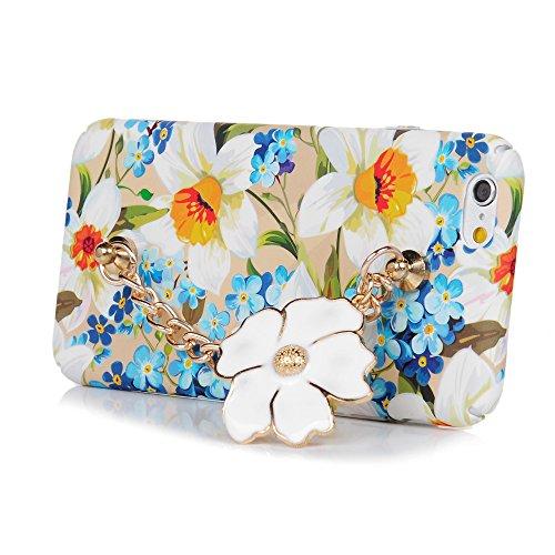 Mavis's Diary Coque iPhone 6/iPhone 6S Housse étui PC Plastique Protection Complet de Téléphone Personnalisé Phone Case Coque avec Bracelet Rigide Anti Rayure Antichoc Orchidée