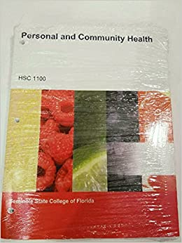 Personal And Community Health Hsc 1100 Seminole State College Of