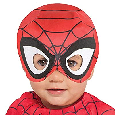 Suit Yourself Spider-Man Halloween Costume for Babies, Marvel Comics, 12-24 M, Includes Jumpsuit and Hat with Mask: Clothing