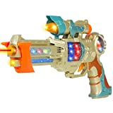 Best Choice Products Toy Gun With Colorful Flashing & Spinning Lights, Fun Shooting Sounds Space Gun Fun Gift
