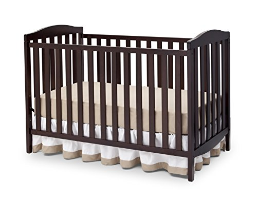 Delta Children Capri 3-in-1 Convertible Baby Crib, Dark Chocolate