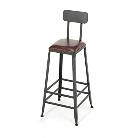 Cool American Style Iron Art Bar Chair Retro Solid Wood Pu Caraccident5 Cool Chair Designs And Ideas Caraccident5Info