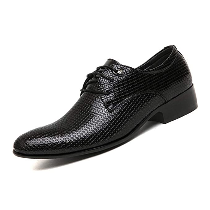 Amazon.com: YaXuan Mens Leather Shoes,Business Pointed Shoes,2018 Spring Fall Formal Dress Shoes,Lace-Up Wedding Shoes,Fashion Mens Shoes (Color ...