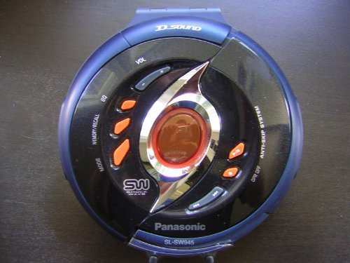 Panasonic SHOCKWAVE Portable CD Player SL-SW945 w/ D.Sound (Navy Blue and Black) (Cd Panasonic Player Shockwave)