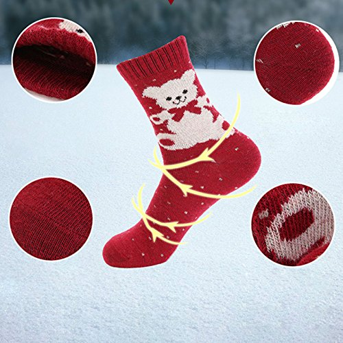 Laat Fibre Calde Invernali Calze 5 Pairs Artificiali Donna Autunnali rw4xCrqTHW